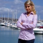 pink checkered shirt for women
