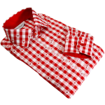 red checkered dress shirt