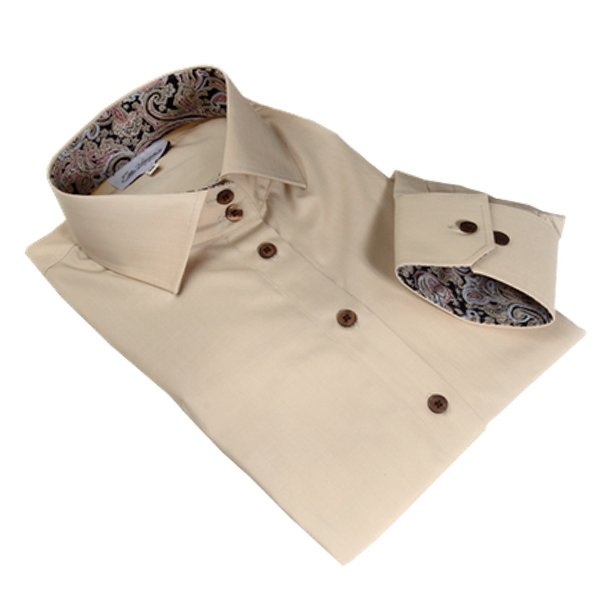 beige dress shirt