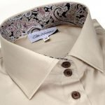 beige shirt collar