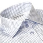 blue checkered collar