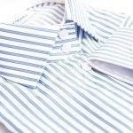 blue striped shirt collar