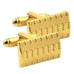 women's cufflinks golden