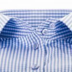 gingham shirt collar