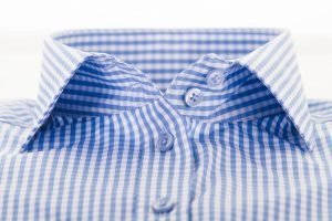 light blue gingham shirt collar