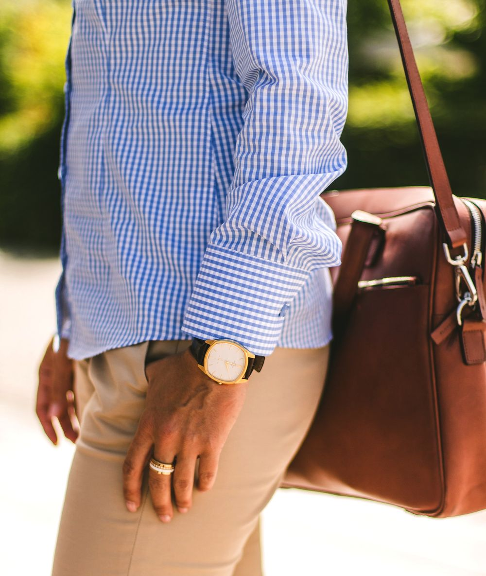 gingham blouse