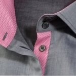 Women's grey shirt with pink details
