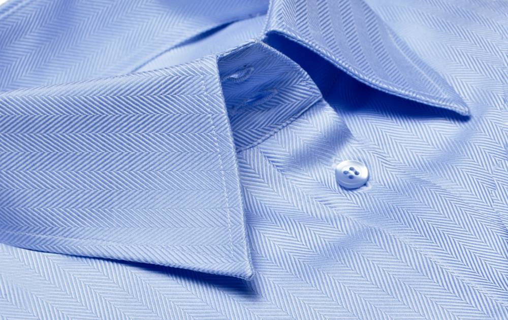 light blue shirt collar