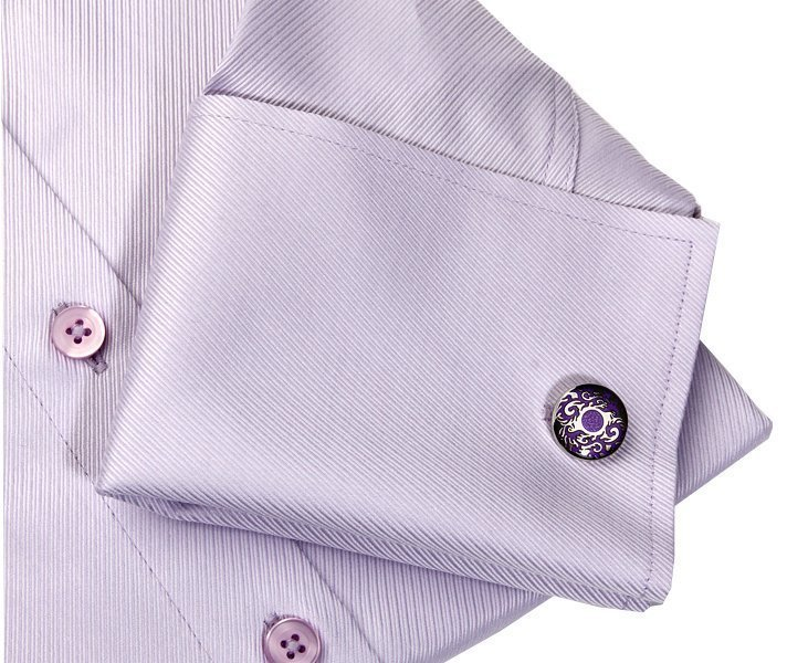 lilac shirt with cufflinks