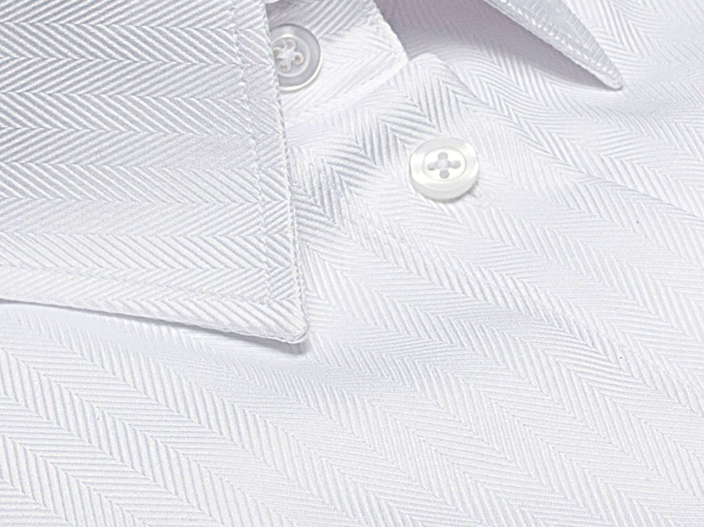 white shirt herringbone fabric