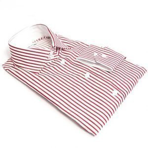 red striped dress shirt