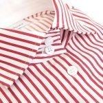 women's red striped shirt