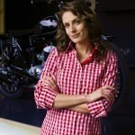 red gingham women's shirt style
