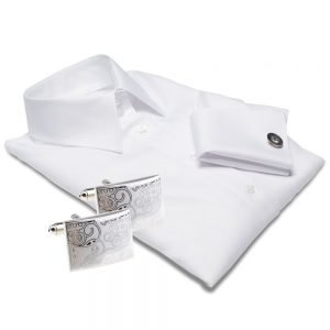 white shirt with cufflinks
