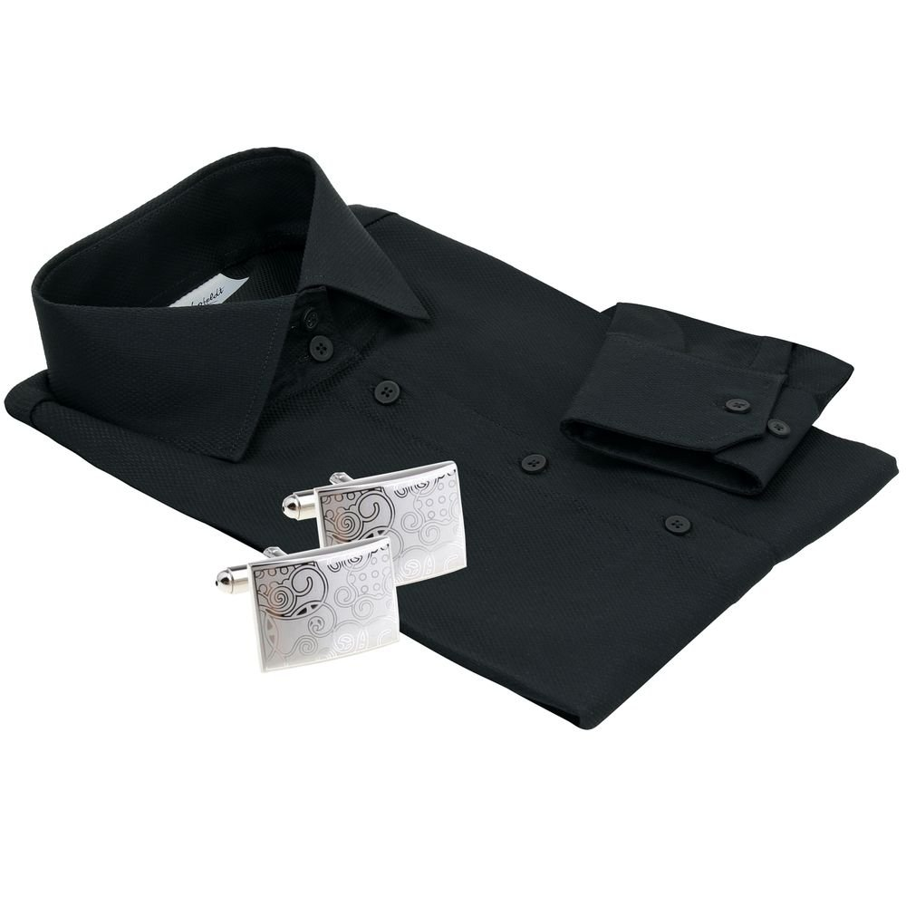 women's black button-up shirt