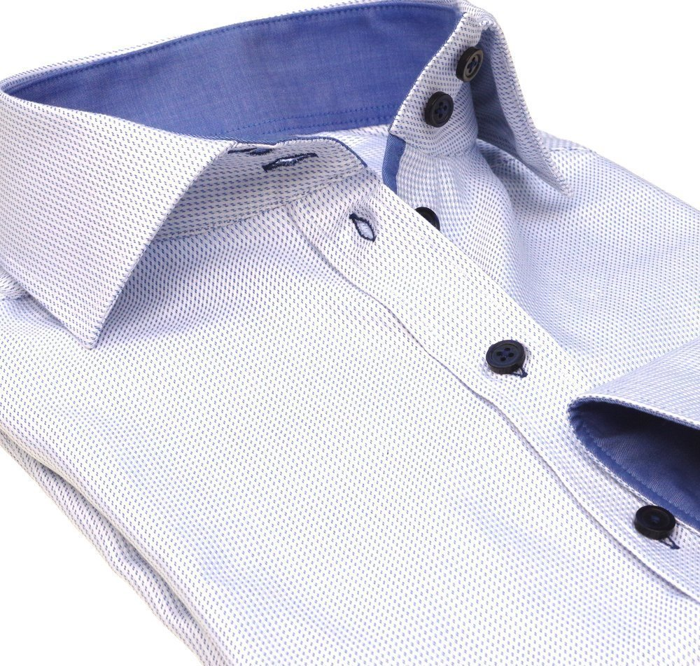 women's dress shirt blue details