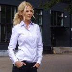 women's lilac dress shirt