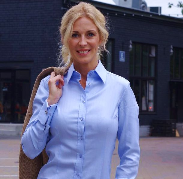 light blue women's shirt
