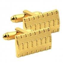 golden colour cufflinks