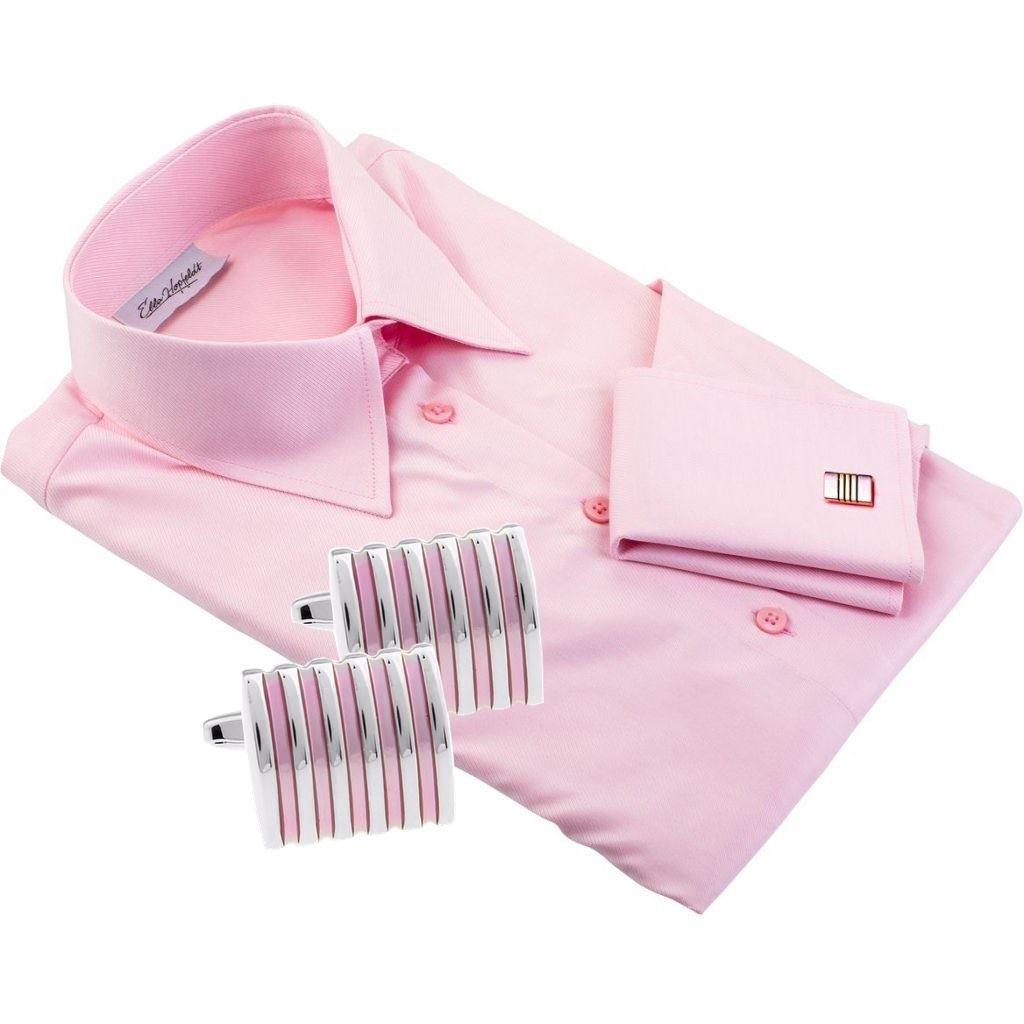 VENICE pink dress shirt + CUFFLINKS