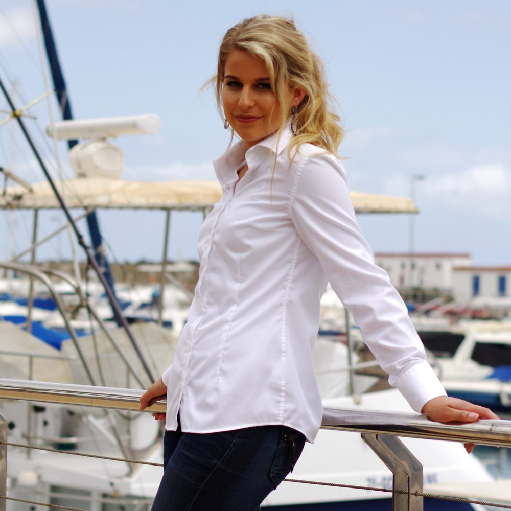 4ddd2da7b48 Classic white women s shirt