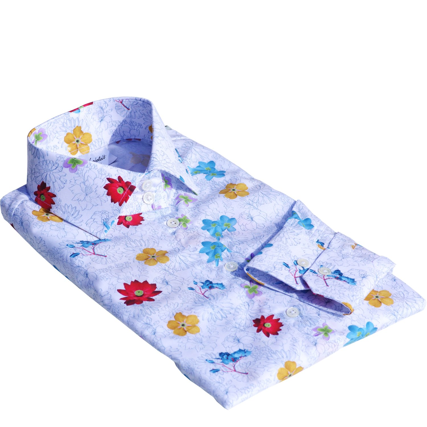 SEVILLE dress shirt with flowers (last sizes: 34, 44, 46)