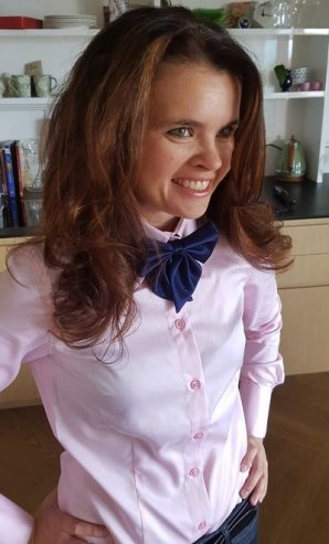 VENICE pink dress shirt + BOW TIE
