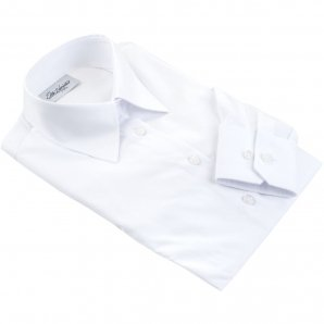 PALERMO white dress shirt with BOW TIE