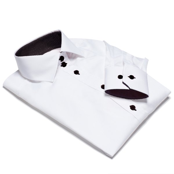 NEW! NICE white shirt with black details