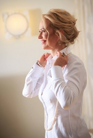 PARIS weiße Bluse + MANSCHETTENKNÖPFE