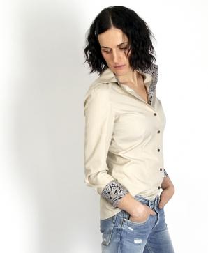 MILAN beige dress shirt (last sizes: 32, 42, 44)