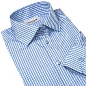 MILAN light blue gingham dress shirt