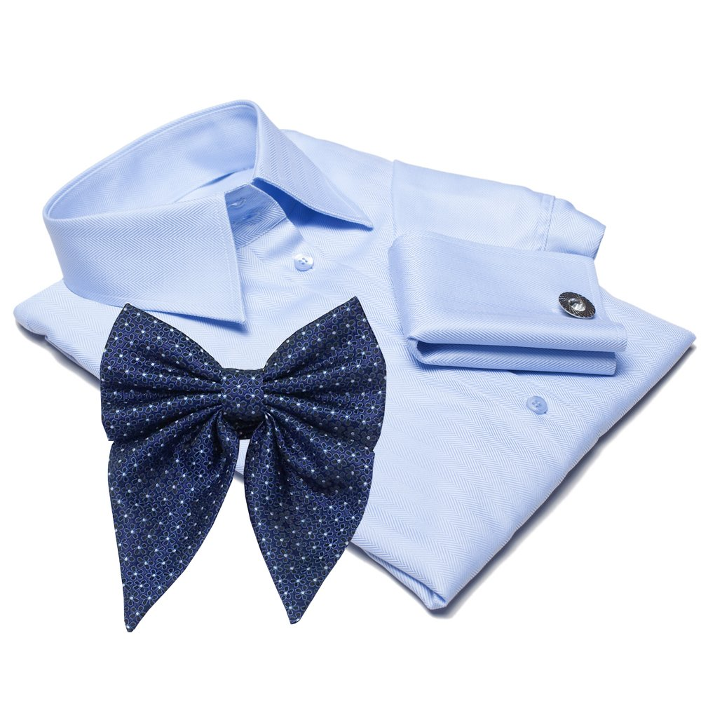 VENICE light blue dress shirt with BOW TIE