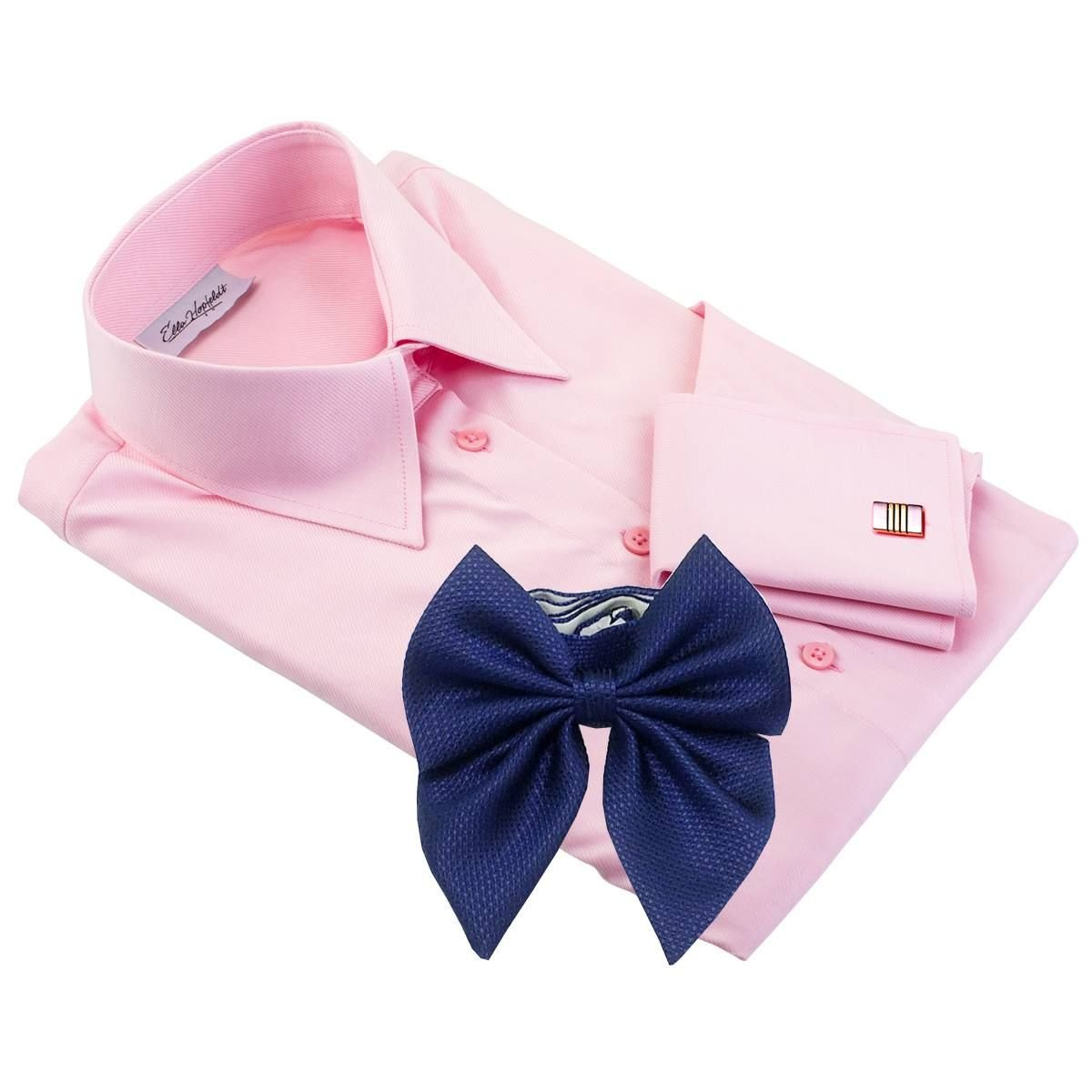 Venice Pink Dress Shirt With Bow Tie Ella Hopfeldt